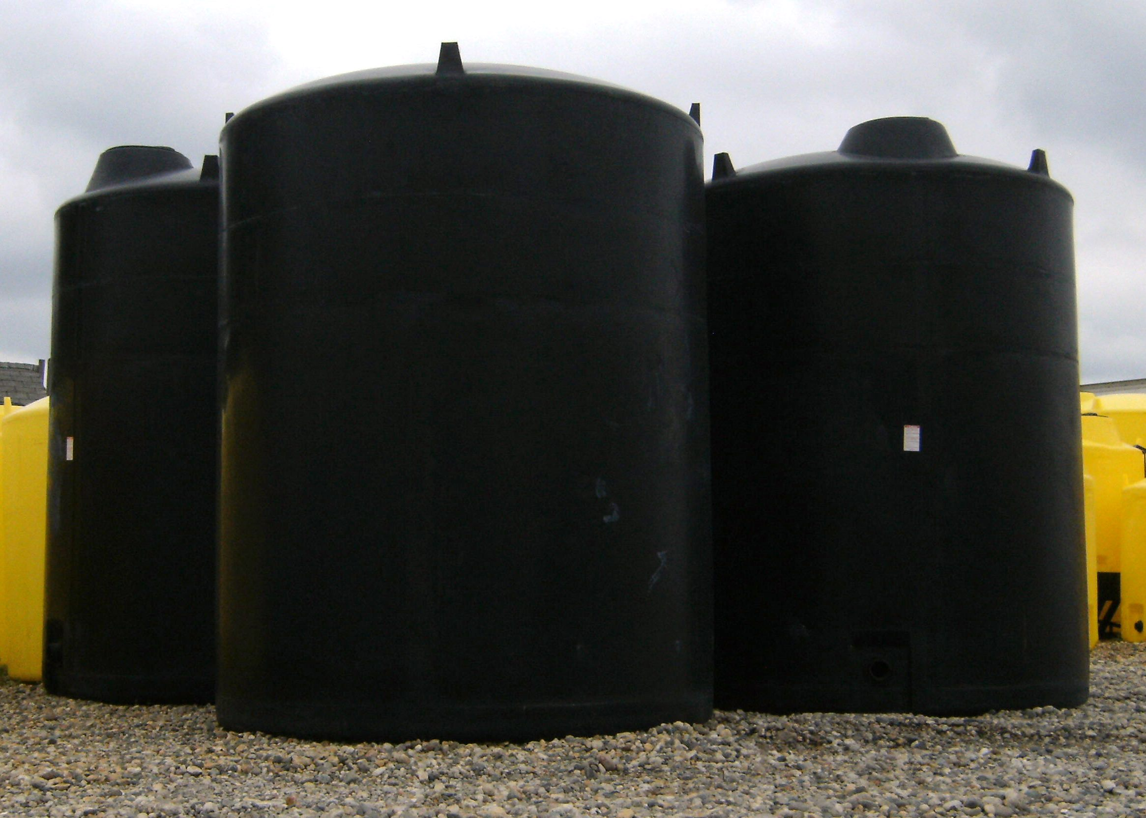 Black 3000 gal tanks